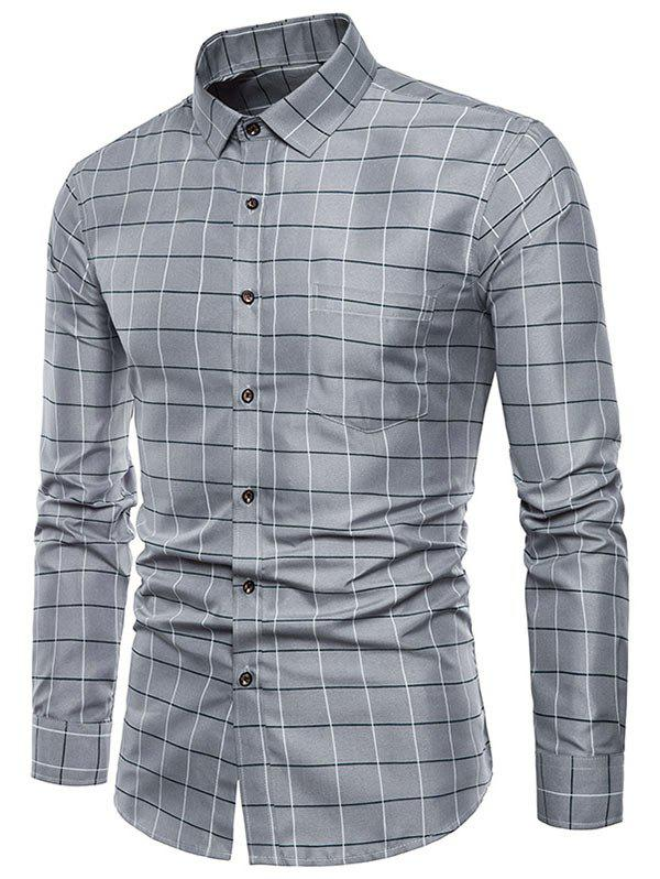 Outfits Plaid Print Single Breasted Long Sleeves Shirt