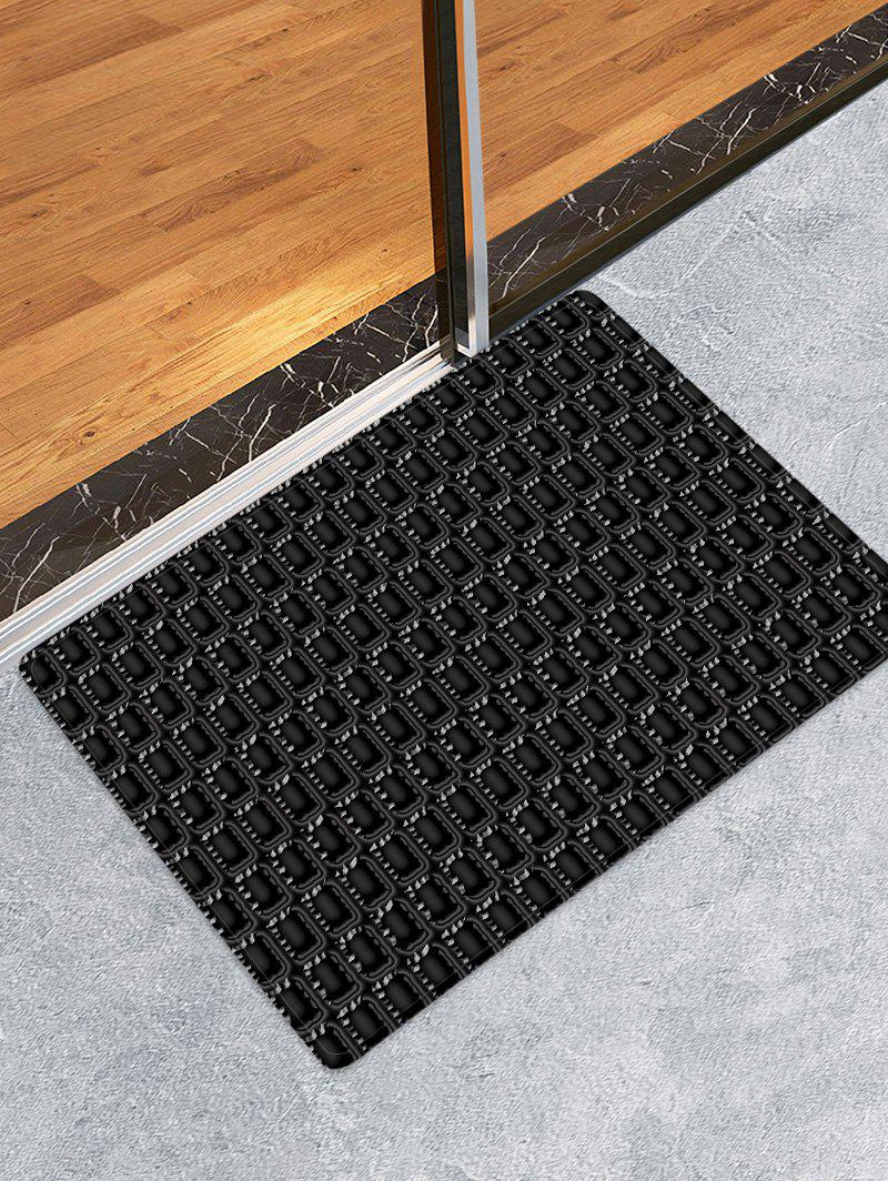 Latest Checked Pattern Flannel Skidproof Area Rug