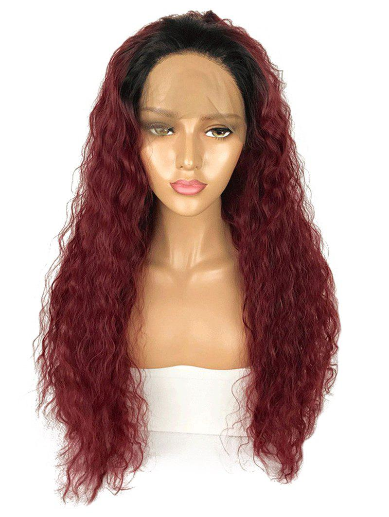 Best Long Free Part Gradient Water Wave Lace Front Synthetic Wig