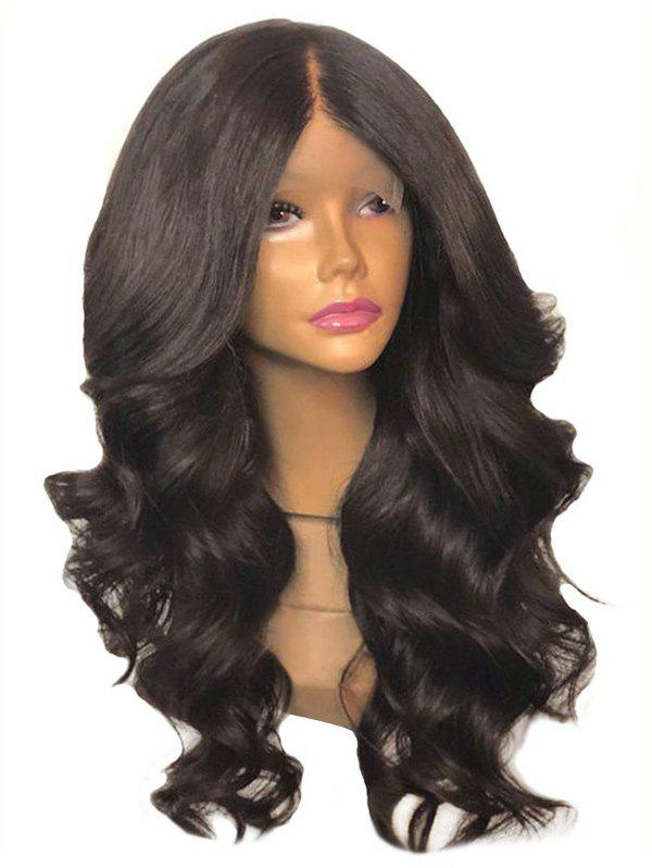 Hot Long Center Parting Body Wave Lace Front Synthetic Wig