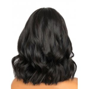Medium Center Parting Wavy Lace Front Synthetic Wig -