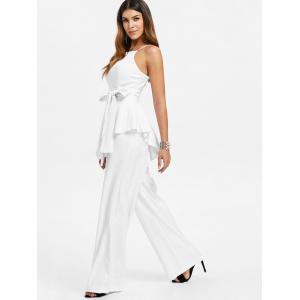 Spaghetti Strap Belted Jumpsuit -