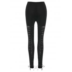 Lace Up Ripped Fit Leggings -