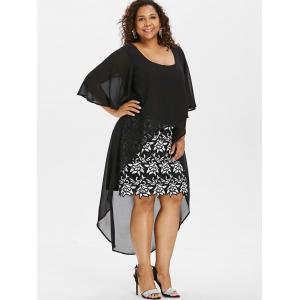 Plus Size Bell Sleeve High Low Dress -