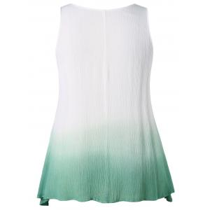 Plus Size Ladder Cut Gradient Color Tank Top -