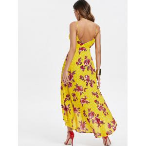 Floral Print Cut Out Backless Dress -