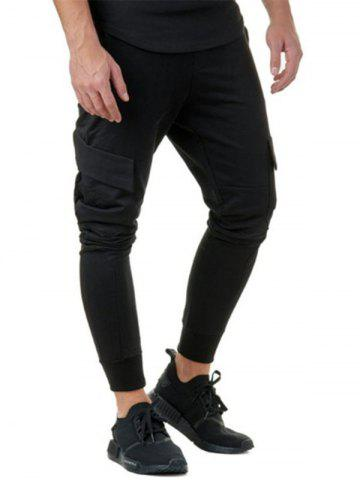 Discount Solid Color Casual Cargo Jogger Pants