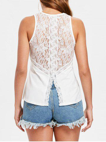 Fancy Slim Fit Applique Lace Tank Top