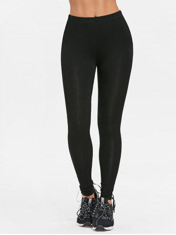 Lace Up Ripped Fit Leggings