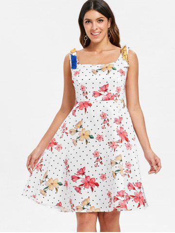 Square Neck Polka Dot Vintage Dress