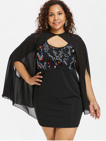Plus Size Tank Dress with Capelet