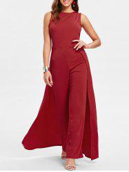 Sleeveless Round Neck Jumpsuit -