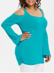 Plus Size Long Sleeve Embellished T-shirt -