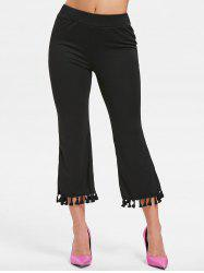 Tassels Ninth Flare Pants -