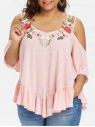 Rosegal Plus Size Cold Shoulder Strappy T-shirt -