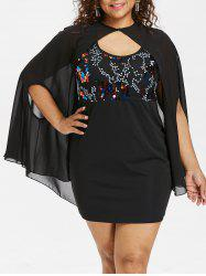 Plus Size Tank Dress with Capelet -
