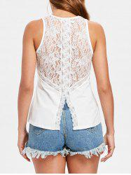 Slim Fit Applique Lace Tank Top -