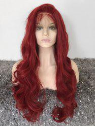 Long Free Part Wavy Party Lace Front Synthetic Wig -