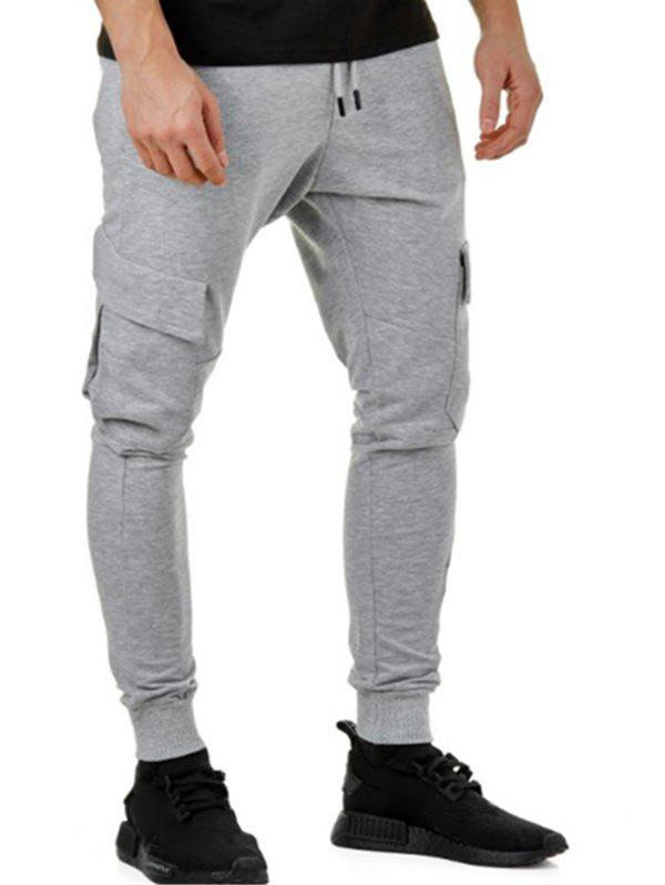 Affordable Solid Color Casual Cargo Jogger Pants