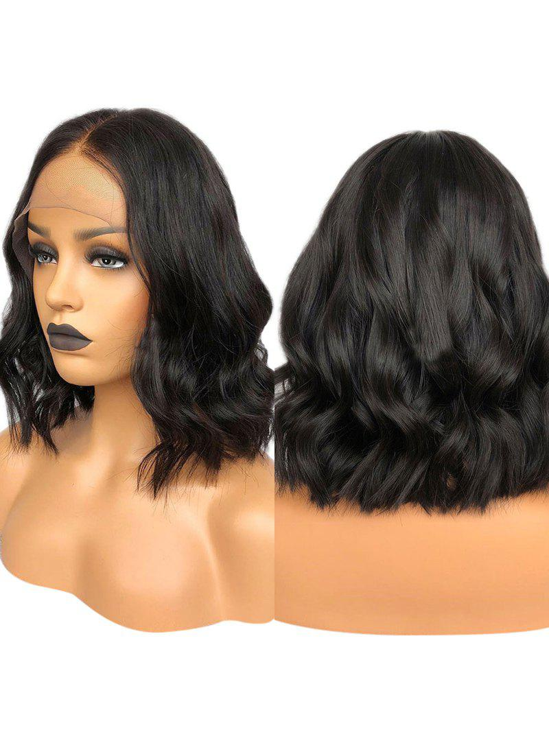 Cheap Medium Center Parting Wavy Lace Front Synthetic Wig