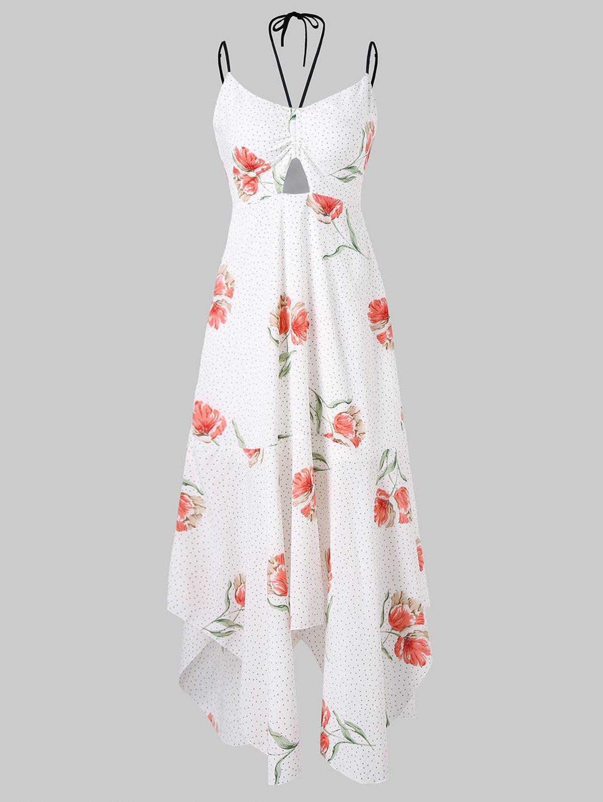 Best Floral and Dotted Print Midi Summer Dress