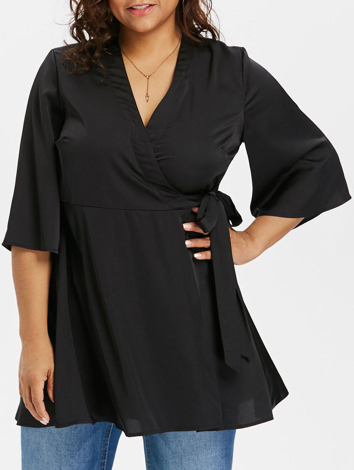 Chic Plus Size Swing Wrap Top