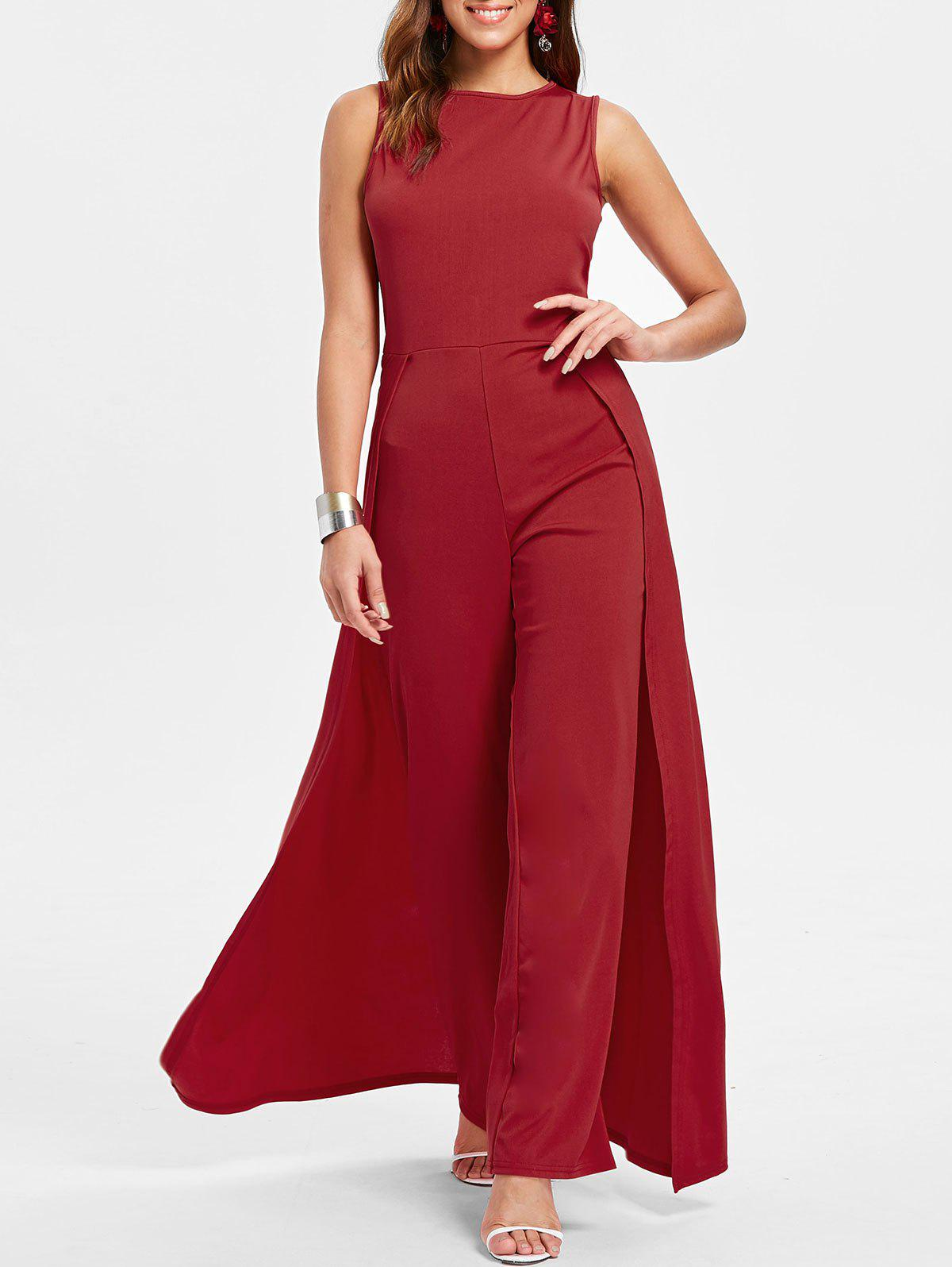 Sale Sleeveless Round Neck Jumpsuit