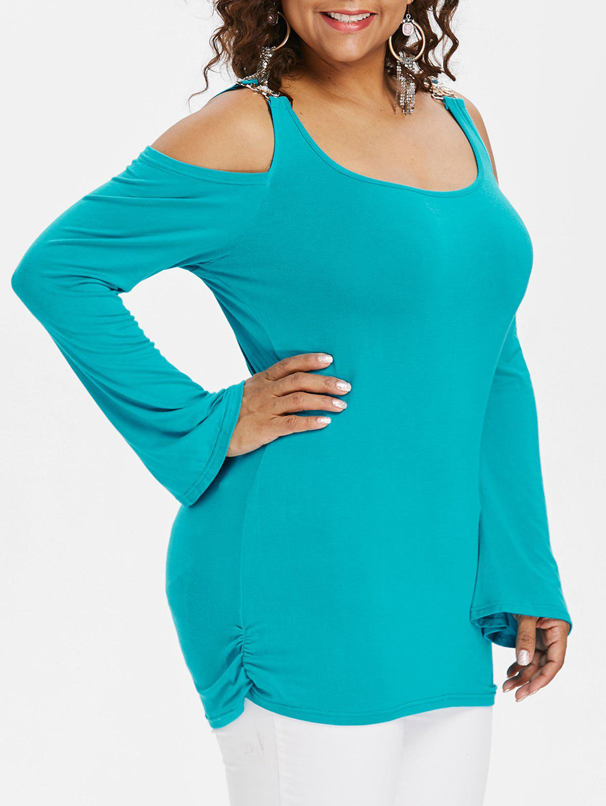 Latest Plus Size Long Sleeve Embellished T-shirt