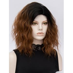 Medium Ombre Natural Wavy Heat Resistant Synthetic Wig -