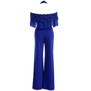 Applique Choker Neck Jumpsuit -
