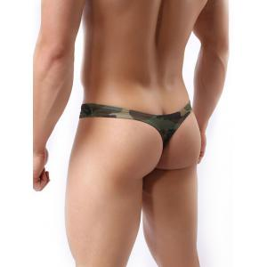 Camo Printed Hot Thong Underwear -