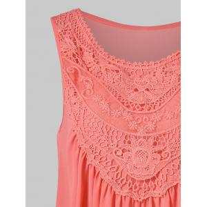 Lace Embroidered Trapeze Tank Top -