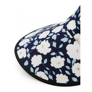 Vintage Flowers Printed Open Top Travel Hat -