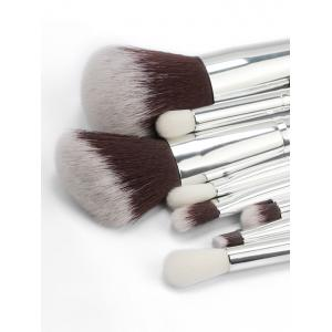 8 Pcs Ultra Soft Synthetic Fiber Hair Travel Makeup Brush Set -