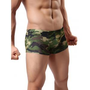 Low-rise Camouflage Printed Trunk -