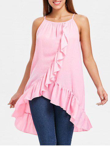 Cheap Asymmetrical Ruffle Insert Cami Top