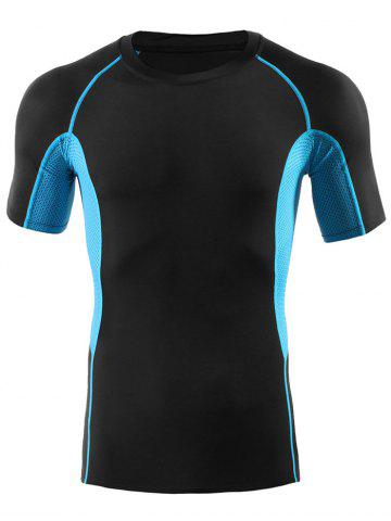 Shops Fitted Gym Raglan Sleeve Panel T-shirt