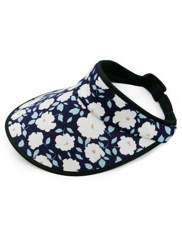 Outfit Vintage Flowers Printed Open Top Travel Hat