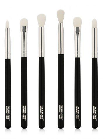 Hot 6 Pcs Extra Soft Fiber Hair Eye Makeup Brush Set