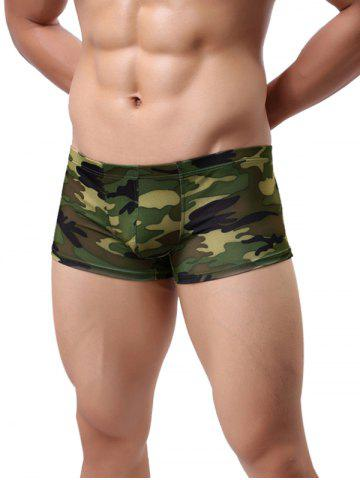Online Low-rise Camouflage Printed Trunk