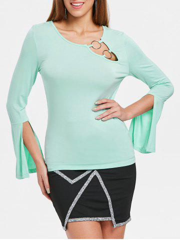 Outfits Long Sleeve Cut Out T-shirt