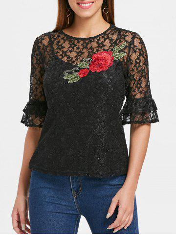 Embroidered Lace Top with Camisole