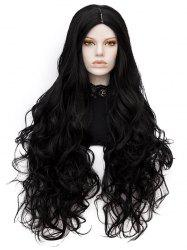 Long Center Parting Wavy Heat Resistant Synthetic Party Wig -