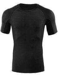 Fitted Gym Raglan Sleeve Panel T-shirt -