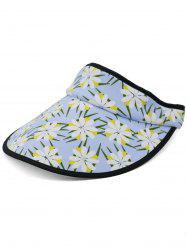 Pretty Floral Printed Open Top Sunscreen Hat -