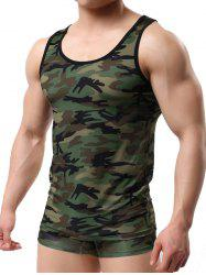 Sleeveless Camo Pattern Tee -