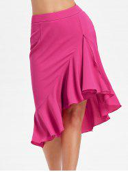 High Low Flounced Fishtail Skirt -