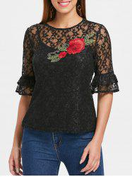 Embroidered Lace Top with Camisole -