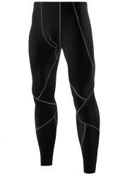 Color Block Tights Skin Athletic Pants -