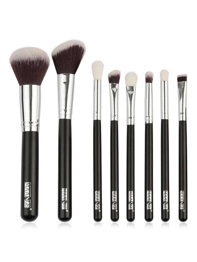 New 8 Pcs Ultra Soft Synthetic Fiber Hair Travel Makeup Brush Set